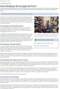 Deutsche Handwerksnachrichten_Innere Kündigung_EO Institut