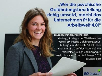 Vortrag von Laura Buchinger - Vortrag von Laura Buchinger auf der A+A 2017