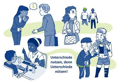 CQPostkarte mit Text - Diversity Management: Unterschiede nutzen, denn Unterschiede nützen