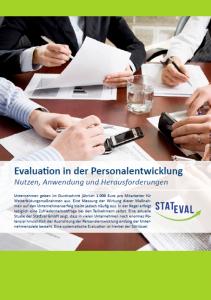 Cover Evaluation in der Personalentwicklung EO Institut 211x300 - Aktuelle Forschungsprojekte