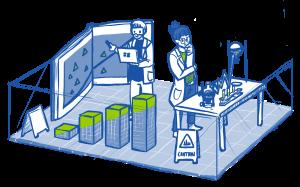 Laborszene 300x187 - Organisationsentwicklung